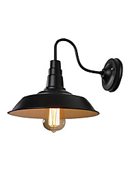 cheap -Gooseneck Wall Sconces American Iron Wall Lamp Industrial Wall Mount Lamp Doorway Countryside Cone Wall Light Fixture for Corridor Bar