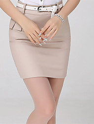 cheap -Women's Basic Mini Bodycon Skirts Solid Colored Patchwork