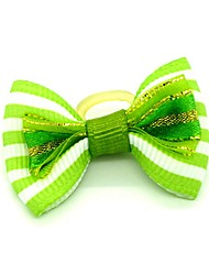 cheap -Dogs Ornaments Hair Accessories For Dog / Cat Bowknot Decoration Stripes Metalic Polyester Rubber Fuchsia Red Green
