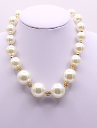 cheap -Women's Pearl Pearl Necklace Classic Artistic Elegant Imitation Pearl White 40+5 cm Necklace Jewelry 1pc For Wedding Engagement Gift