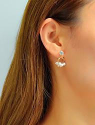 cheap -Women's Drop Earrings Geometrical Unique Design Trendy Elegant Imitation Pearl Earrings Jewelry Gold For Daily Work 1 Pair