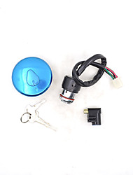 cheap -2088 Motorcycle Ignition Switch Lock+Fuel Gas Tank Cap Cover Lock Set for Haojue Suzuki GN125 GN 125 125cc Spare Parts