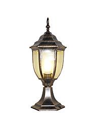 cheap -Waterproof Retro Outdoor Lights Garden / Outdoor Aluminum Post Light Aluminum/Glass Column Light Pillar Lamp for Courtyard Garden Front Door Lighting
