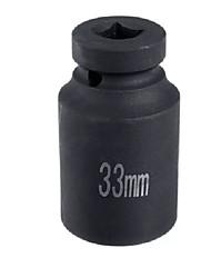 cheap -Deep Impact Socket 1/2 inch 33mm Alloy Steel Black Repair Tool