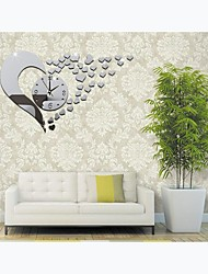 cheap -3D Acrylic Mirror Wall Sticker Clock Decoration Decor