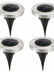 cheap -BRELONG 16LEDs Solar Underground Lights Lamp Outdoor Waterproof Garden Path Deck Lights Home Courtyard Driveway Lawn Garden 4 pcs
