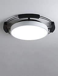 cheap -1-Light CONTRACTED LED® 55 cm Creative / New Design / Cool Flush Mount Lights Metal Geometrical / Novelty Painted Finishes LED / Drum 110-120V / 220-240V