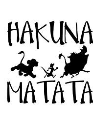 cheap -Delicate HAKUNA MATATA Lion King Simba Car-Styling  Car Sticker