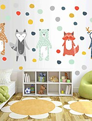 cheap -Nordic Diy Cartoon Animal Bear Fox And Deer Walls Added To Children'S Housing Decorative Wall Stickers - Animal Wall Stickers / Plane Wall Stickers Still Life / Animals Kids Room / Nursery