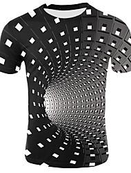 cheap -Kids Toddler Boys' Active Basic Geometric Print Color Block Print Short Sleeve Tee Black