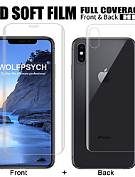 cheap -Front + Back Soft Film For iPhone 6 6s 7 8 Plus Screen Full Cover Protector For X Xs Max Xr Silicone Hydrogel Sticker