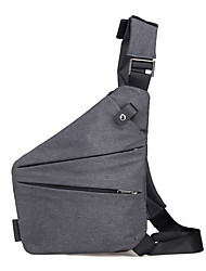 cheap -Men's Zipper Oxford Cloth Sling Shoulder Bag Solid Color Gray / Fall & Winter
