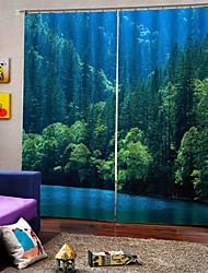 abordables -rideaux de tissu de style pastoral chinois épaissie rideaux pour le salon imperméable à l'eau pur rideaux de douche en polyester pur
