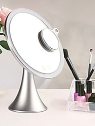 cheap -Cosmetic Mirrors New Design / LED Light / Youth Makeup 1 pcs Alloy Round Universal / Nursing / Health&Beauty Simple / Portable Daily Wear Daily Makeup Beauty Casual / Daily Cosmetic Grooming Supplies
