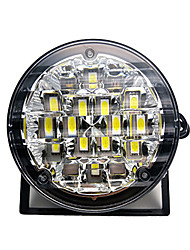 cheap -2pcs 12V 18LED DRL Round Car Fog Lamp Driving Daytime Running Light Bright White