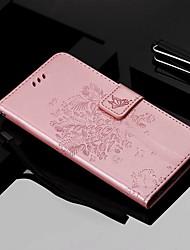 Недорогие -Кейс для Назначение Motorola MOTO One питания / МОТО Р40 / MOTO G6 Кошелек / Бумажник для карт / со стендом Чехол Кот / дерево Твердый Кожа PU