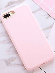 cheap -Case For Apple iPhone X / iPhone 8 Plus / iPhone 8 Shockproof / Dustproof Back Cover Solid Colored Soft TPU