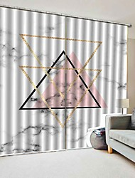 cheap -Modern Simple Design Window Curtains Decorative Drapes Blackout 100% Polyester Fabric Bedroom / Living Room / Hotel