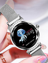 cheap -H2 Smart Watch Women 3D Diamond Glass Heart Rate Blood Pressure Sleep Monitor Best Gift Smartwatch