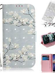 cheap -Case For Nokia Nokia Wallet / Card Holder / with Stand Full Body Cases Flower PU Leather