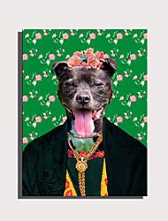 cheap -Print Rolled Canvas Prints Stretched Canvas Prints - Animals Cartoon Modern Art Prints
