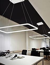 cheap -2-Light Geometric 2 pcs/lot Rectangle Linear Pendant Light Ambient Light for Dinning Room Living Room. Adjustable Dimmable 110-120V / 220-240V Warm White / White / Wi-Fi Smart