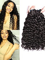 cheap -6 Bundles Peruvian Hair Water Wave Unprocessed Human Hair 100% Remy Hair Weave Bundles Natural Color Hair Weaves / Hair Bulk Bundle Hair Human Hair Extensions 8-28 inch Natural Color Human Hair Weaves