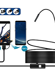 cheap -8MM 3in1 TYPE-C USB Android mobile phone endoscope 2 meters 5 meters 2 million mobile phone endoscope instrument soft line 1 meter