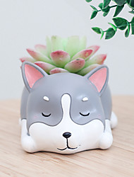 cheap -Creative Resin Sleeping Pet Design Flowerpot Lovely Animal Shaped Succulent Plant Pot