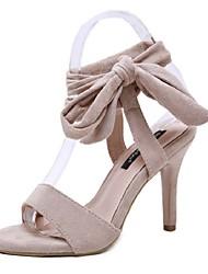 cheap -Women's Sandals Stiletto Heel PU(Polyurethane) Classic Spring & Summer Black / Almond