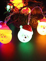 cheap -1.5M 10LEDs Santa Claus Shape String Light for IndoorOutdoor Night Light Christmas Decorations