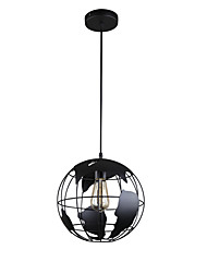 cheap -1-Light Globe Pendant Light Metal Suspension Lights Ambient Light Painted Finishes Metal Lighting Fixtures for Living Room Hallway