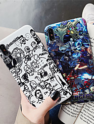 cheap -Case For Apple iPhone XS / iPhone XR / iPhone XS Max IMD / Pattern Back Cover Cartoon / 3D Cartoon Soft TPU