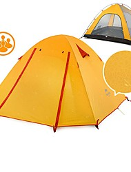 cheap -Naturehike 4 person Backpacking Tent Outdoor Portable Windproof Well-ventilated Double Layered Poled Dome Camping Tent >3000 mm for Hunting Camping Traveling Silicone Canvas Aluminium 210*210*135 cm