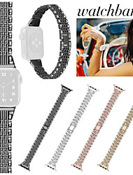 cheap -1 Pcs Watch Band For Apple Watch Stainless Steel Seven Beads Two Rows of Diamonds Bracelet Strap 38/40mm 42/44mm