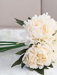Недорогие -Искусственные цветы Полиэстер Современный современный нерегулярный Букеты на стол нерегулярный 1 / Одноместный Ваза