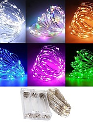 cheap -ZDM Waterproof 3M 30 LED 3AA Battery Fairy String Lights Firefly Lights Christmas Decor Christmas Lights Multi Color