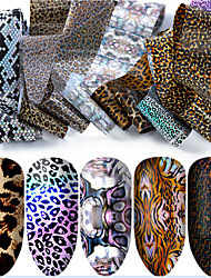 cheap -10 pcs Full Nail Stickers Galaxy nail art Manicure Pedicure Eco-friendly / Creative Statement / Classic Daily / Festival