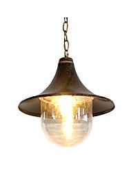 Недорогие -Урожай масло втирают подвесной светильник открытый водонепроницаемый сад Pendnat фонарь подвесные светильники для прихожей ресторан фермы дом бронза