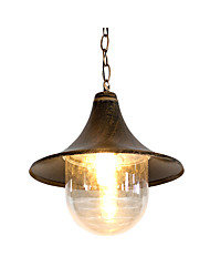 cheap -Vintage Oil Rubbed Pendant Light Outdoor Waterproof Garden Pendnat Lantern Pendant Lamps for Hallway Restaurant Farm House Bronze