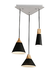 cheap -3-Light Cluster Chandelier Downlight Painted Finishes Metal Pendant Lighting Fixture 3 Lights Chandeliers Flush Mount for Dining Hall Living Room