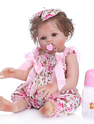 cheap -NPKCOLLECTION 20 inch Reborn Doll Baby Baby Girl Cute New Design Artificial Implantation Blue Eyes Full Body Silicone with Clothes and Accessories for Girls' Birthday and Festival Gifts
