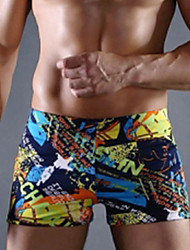 cheap -Men's Swim Shorts Elastane Board Shorts Breathable Beach Reactive Print Spring Summer Fall / High Elasticity