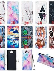 Недорогие -Кейс для Назначение Sony Sony Xperia L3 / Sony Xperia 10 / Sony Xperia 10 Plus Кошелек / Бумажник для карт / со стендом Чехол Животное / Мрамор Твердый Кожа PU