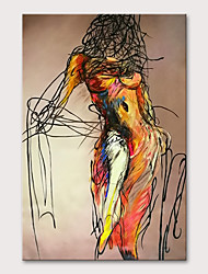 cheap -Oil Painting Hand Painted - People Nude Modern Rolled Canvas