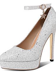 cheap -Women's Heels Stiletto Heels Stiletto Heel Pointed Toe PU(Polyurethane) Classic Fall Black / Silver / Pink / Wedding / Party & Evening