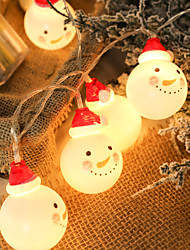 cheap -LED Charming Christmas Snowman Shape String Light for Home Garden Party Christmas Decoration