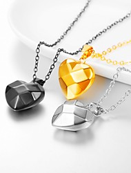 cheap -Women's Pendant Necklace Necklace Charm Necklace Heart Romantic Fashion Cute Titanium Steel Gold Black Silver 55 cm Necklace Jewelry 1pc For Wedding Graduation Gift Daily Festival