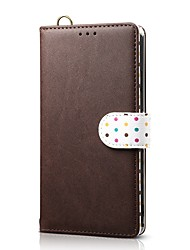 cheap -Case For Apple iPhone XS / iPhone XR / iPhone XS Max Wallet / Card Holder / with Stand Full Body Cases Solid Colored Genuine Leather