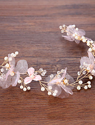 cheap -Tulle Hair Accessory with Flower 1 Piece Wedding / Casual Headpiece